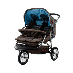 Chelino - Twin 3 Wheel Side By Side Stroller - Ocean