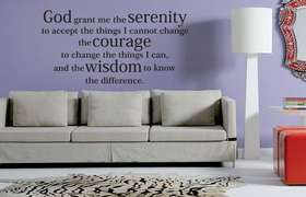 Fantastick - Serenity Prayer Vinyl Wall Poetry