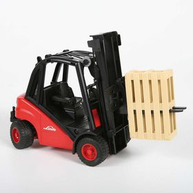 Bruder Linde fork lift H30D with Pallet