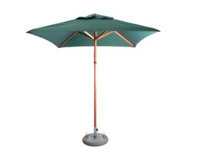 Cape Umbrellas - 2m Classic Line Tokai Square Umbrella - Dark Green