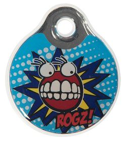 Rogz ID Tagz Small Self-Customisable Instant Resin Tag - Comic Design