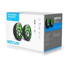 Astrum 2.0 CH USB Speaker - White/Green