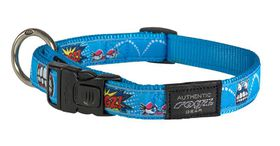 Rogz - Fancy Dress Large 2cm Beach Bum Dog Collar - Comic Design