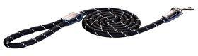 Rogz - Utility Rope 0.9cm Medium 1.8m Long Dog Leash - Black Reflective