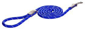 Rogz - 6mm 1.8m Long Fixed Dog Rope Lead - Blue Reflective