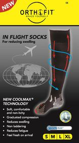 Orthofit Inflight Socks - Black - Medium