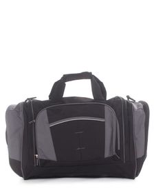 Eco Multi Pocket Sports Bag - Black & Grey