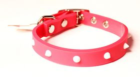 Dog's Life - Non-Toxic PVC Spike Collar Pink - 2XL