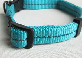 Dog's Life - Reflective Supersoft Webbing Collar Turquoise - Large