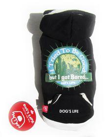 Dog's Life - Bored Tee Black - Extra Small
