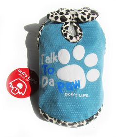 Dog's Life - Talk 2 Paw Tee - Blue - Large