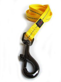 Dog's Life - Reflective Supersoft Webbing Leash Yellow - Medium