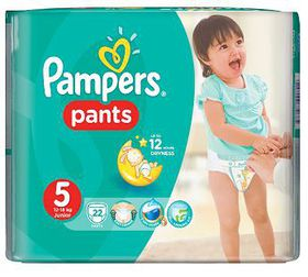Pampers - Active Baby Nappy Pants - Size 5 - Carry Pack (22 count)