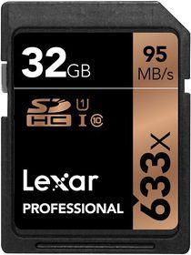 Lexar 32GB Professional 633x SDHC Card