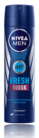 Nivea Deodorant Men Fresh Musk Aerosol 150ml