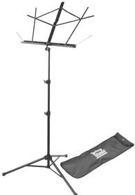 On Stage SM7222BB Tubular Tripod Base Sheet Music Stand with Bag - Black