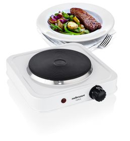 Mellerware - Helios Single Solid Hotplate - White
