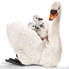 Schleich White Swan with Cygnets