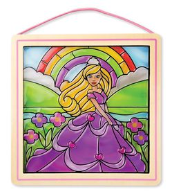 Melissa & Doug Stained Glass Princess - Sticker By Number