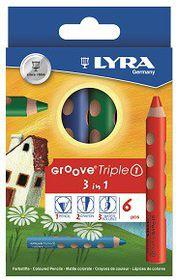 Lyra Groove Triple1 6 Colour Pencils