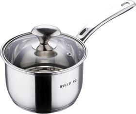 Wellberg 16cm Stainless Steel Saucepan with Lid - 1.9 Litre