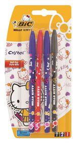 Bic Hello Kitty 4 Cristal Ballpoint Pens