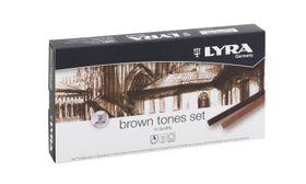 Lyra Polycrayons Pastels - 12 Brown Tones in Box