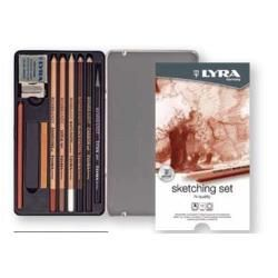 Lyra Rembrandt Sketching Set - 11 Pieces in Metal Box