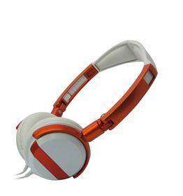 VCOM DE011 Headphone With Microphone 3.5mm Fold - Orange