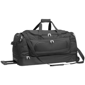 Eco Double Decker Trolley Travel Bag - Black