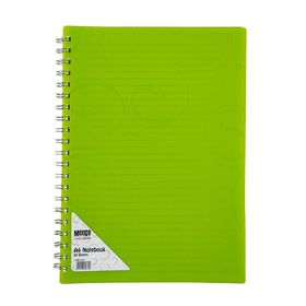 Meeco Creative Collection A4 80 Ruled Sheets Spiral Bound Notebook - Green