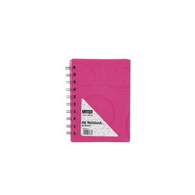 Meeco Creative Collection A6 80 Ruled Sheets Spiral Bound Notebook - Pink