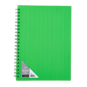 Meeco Neon Stripe A4 80 Ruled Sheets Spiral Bound Notebook - Green