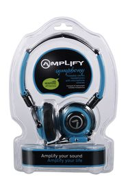Amplify Symphony Headphones with Mic - Blue/Black