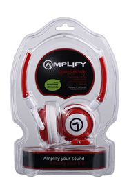 Amplify Symphony Headphones with Mic - Red/White