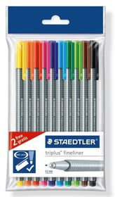 Staedtler Triplus Fineliners - Polybag of 10