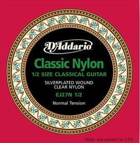 D'Addario EJ27N 1/2 Student Nylon Fractional Normal Tension Classical Guitar Strings