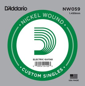 D'Addario NW059 Nickel Wound Single Electric Guitar String - .059