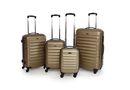 Hazlo 4 Piece ABS Trolley Luggage Bag Set - Champagne