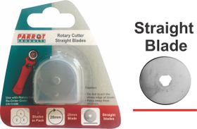 Parrot Craft Rotary 28mm Straight Blades Refill Pack