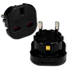 UK to EURO Plug Adaptor (Black)