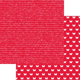 Lady Pattern Paper Basic Essentials Script - Red Pop (10 Sheets)