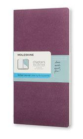Moleskine Chapters Journal Slim Medium Dotted Plum Purple