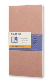 Moleskine Chapters Journal Slim Large Ruled Old Rose