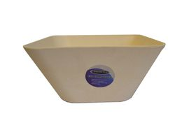 LeisureQuip - 24.5Cm Bamboo Square Bowl - White