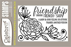 Celebr8 Stamp - Floral Friendship