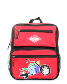 Lee Cooper Backpack - Black Red Motorbike