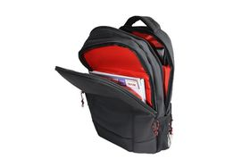 Eco Executive Laptop Backpack - Black with Red Trim