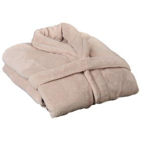 Club Classique - Coral Fleece Bathrobe - Cream