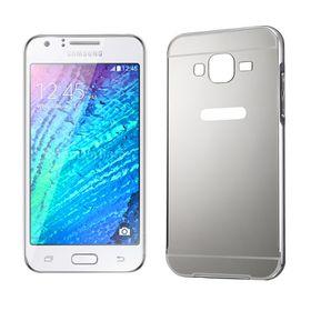 Tuff-Luv Metal Plating Bumper Case for Samsung Galaxy J1 - Silver